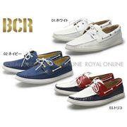 【BCR】 BC-723 デッキシューズ風パンチングシューズ メンズシューズ 全3色
