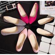 ★激安★セクシーなデザインの靴★★可愛い♪OLスタイル ぺたんこ★皮靴★6色★36-40