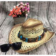 カジュアルラフィアハット★大人気★ レディスファッション&帽子★草編み帽子★UVカット