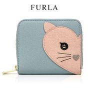 フルラ FURLA アニマル 二つ折り財布 ネコ 872913 / AZZURRO(ブルー×ピンク)【PR99 B30 ALLEGRA】