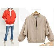 【大きいサイズL-4XL】【春夏新作】ファッションジャケット♪オレンジ/アンズ2色展開◆