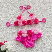 水着 女の子 キッズ 子供服 可愛い スイミング ビキニ セパレート 上下セット スカット2点セット