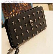 韓国風★頭蓋骨★装飾★女性★ロングスタイル★財布★カードパック★ハンドバッグ★女性バッグ