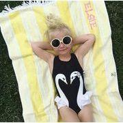 新作♪子供水着☆激安】☆女の子水着セット 2点 帽子付き☆超可愛い 夏の定番彡3種S-4XL