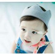 欧米風★秋冬スタイル★キッズファッション★ベビー赤ちゃん男女★クラウン空頂帽★ニット帽
