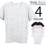 ワッフルVネックTシャツ/sb-255660