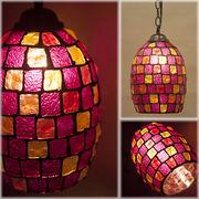 ★【Atelier Glass Lamp 】チェーン付き★アトリエグラス ランプ ランタンPINK MULTI♪
