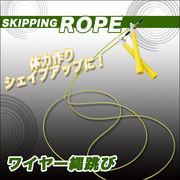 ワイヤー式のロープで加速■速度を上げてカロリー消費度UP■ダイエットやトレーニングにワイヤー縄跳び