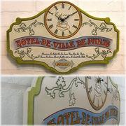 【壁掛時計】【SALE/値下げ】♪ビンテージ レーベル クロック 【Hotel de Paris ホテル ド パリス】