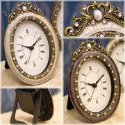 【置時計】2色展開♪可愛らしいデザイン♪アガットテーブルクロック♪オーバル♪