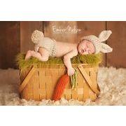 ベビーコスチューム うさぎ衣装 ハロウィン 毛糸 仮装 写真撮影用 出産祝い 新生児 記念撮影 子供服