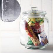 【手作り雑貨】グラスジャー ラージ No. Glass jar Large ナンバー◆ガラス容器/瓶