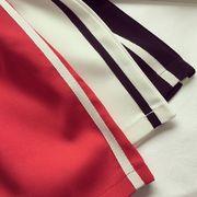 夏 新しいデザイン 引きひも 伸縮性 ハイウエスト A型スカート スカート 女 ルース