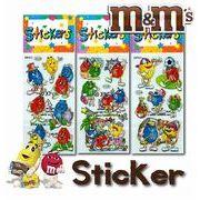 【M&M's】Sticker〈エムアンドエムズ ステッカーシール〉3種