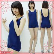 ■送料無料■パッド付きの本物スクール水着(ズボンタイプ) 色:紺 サイズ:M/L/XL/XXL