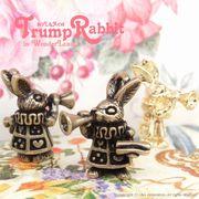 """★L&A Original Parts★Gold&金古美★アクセ作製かわいいチャーム♪140""""Trump Rabbit"""""""