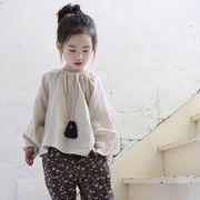 キッズ洋服 秋バージョン 長袖Tシャツ 人形 トップス カジュアルパンツ ハーレムパンツ