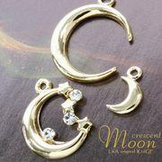 """★新掲載★L&A Original Parts★K16GP★美しきゴールド★三日月♪ムーンチャーム♪""""crescent moon"""""""