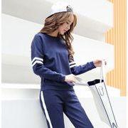 春秋レディース2点セット 3色 上下 セットアップ パーカー パンツ   人気 韓国風 カジュアM-XL