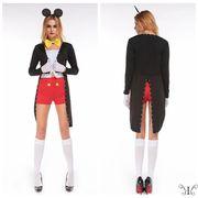 【セール889117】フリーサイズレディースファッション☆コスプレ☆Mr.ネズミのパーティー6点セット F