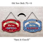 レトロ雑貨★両面 プレート★オープン&クローズ 2★
