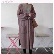 秋冬 女性服 韓国風 中長デザイン クリンピング ルース 長袖のセーター 新しいデザイン