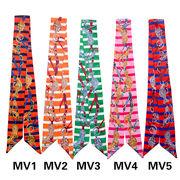 DIY バッグ用スカーフ*長方形 マフラー バッグに巻いえり巻き アクセサリー雑貨