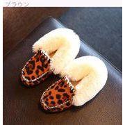 ウインター 新しいデザイン 韓国風 児童 スキッド 女児 革靴 ヒョウ プリンセスの靴