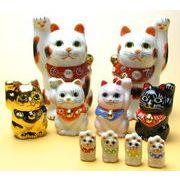 開運招き猫 九谷焼 -アポロ特製 全10体セット