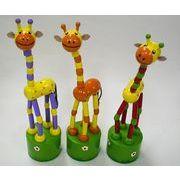 木製おもちゃシリーズ。きりんぷっしゅトイ