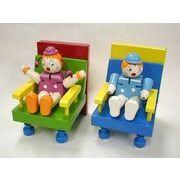 木製おもちゃシリーズ。男の子と女の子本立て