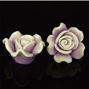 セラミックパーツ軟質21~24mm2個セット(紫)【FOREST 天然石 パワーストーン】