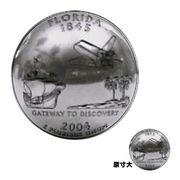 【本物コイン使用!USA50州コインシリーズ】フロリダ州コインボタンコンチョ