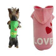 【即納】 全3色 6サイズ展開 犬服 パーカー 生地厚めのトレーナー素材