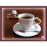 【恋するハート・シリーズ】のコーヒーカップ&ミルクセット、化粧箱付きです。ギフトにどうぞ。