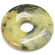 天然石 ピーディスク・円盤 スピリチュアル パワーストーン /イエローターコイズ 40mm