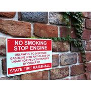 【PLASTIC SIGN BOARD】 CA-36 No Smoking Stop Engine