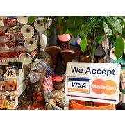 【PLASTIC SIGN BOARD】 CA-37 VisaとMasterCard使えます