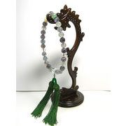 男女兼用念珠 フローライトと水晶の数珠