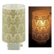 Plastic Aroma Concent Lamp PP アロマコンセントランプ アラベスク:ゴールド◆室内照明