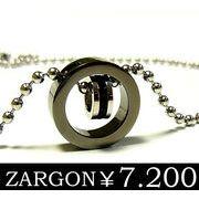 【ZARGON】ザルゴンブラックダイヤモンドCZステンレスネックレス/ステンレスペンダント/ブラック
