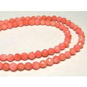 珊瑚(染色) 連販売 ピンク ラウンドカット 約4-5mm