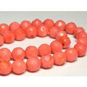 珊瑚(染色) 連販売 ピンク ラウンドカット 約7-8mm