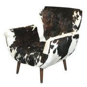…OX FUR CHAIR BROWN&WHITE