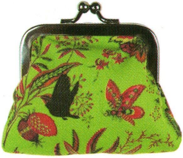 LES INVASIONS EPHEMERES がま口 財布 (小) 花と鳥