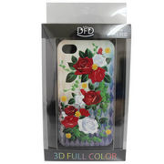 【iPhone 4/4S対応】DFD iphoneケース 3Dフルカラー  ハードなのにソフトな手触り 薔薇 グラデーション