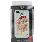 【iPhone 4/4S対応】DFD iphoneケース 3Dフルカラー ツヤありの光沢ある仕上がり お菓子の家 キュート