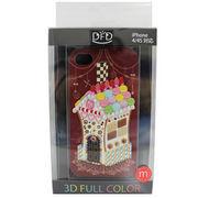 【iPhone 4/4S対応】DFD iphoneケース 3Dフルカラー ツヤありの光沢ある仕上がり お菓子の家 クラシカル