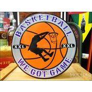 アメリカンブリキ看板 バスケットボール XXL
