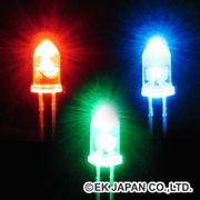 【工作周辺パーツ】高輝度LED[フルカラー・自己点滅透明・5mm]